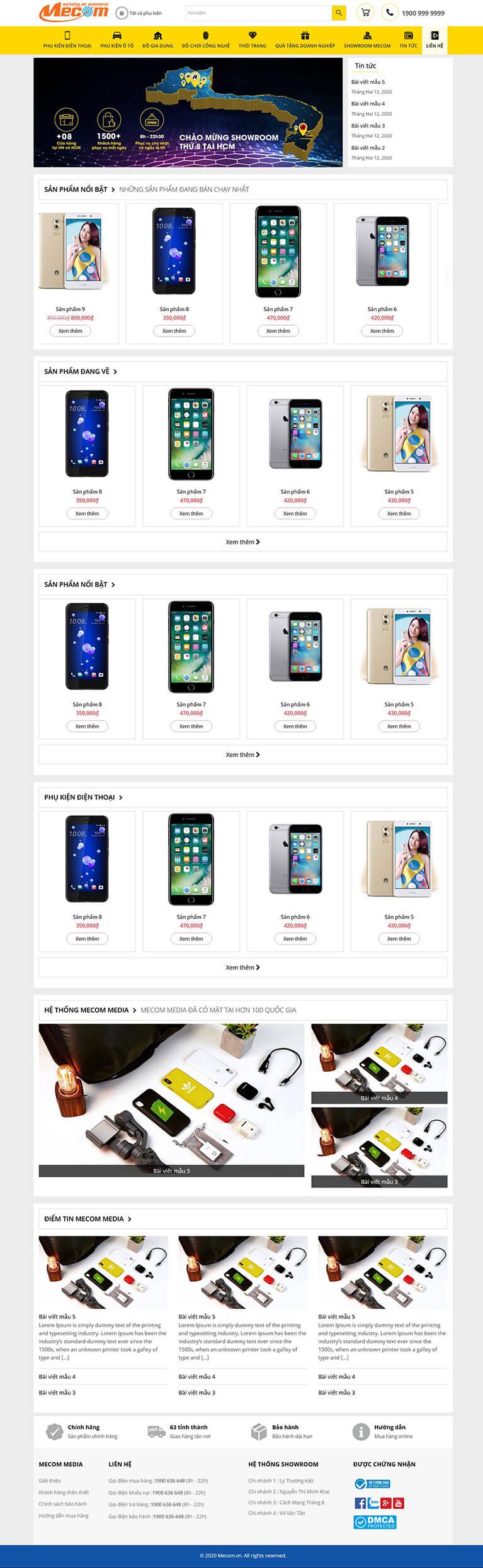 Thiết kế website bán phụ kiện điện thoại Remax