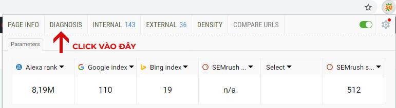 Sử dụng tính năng PAGE SEO AUDIT trong SEOquake để đánh giá website chuẩn SEO