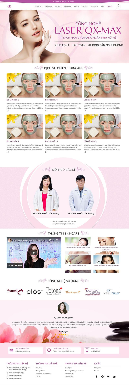 Thiết kế website bán hàng mỹ phẩm SkinCare