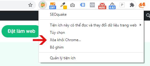 Click chuột phải và chọn Xóa khỏi Chrome