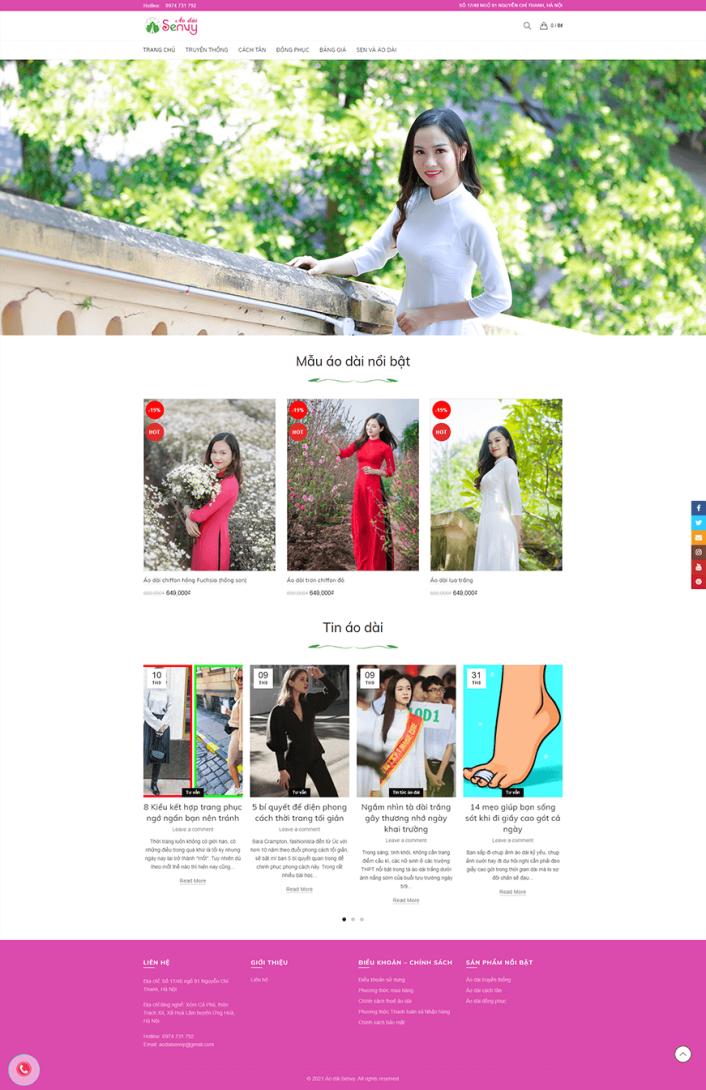 Thiết kế web áo dài Senvy